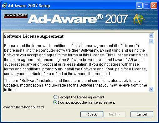 Ad-aware agreement